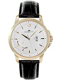 Lindberg & Sons hombre-reloj analógico de cuarzo de cuero LS15H6
