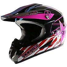 SHOW Cascos Todo Terreno-ATV Casco Moto Integral Ligero para Mujer Hombre Chica Motocicleta Vespa