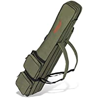 Bolsa para caña de pescar con 3 compartimentos, diferentes longitudes, color Verde oliva, tamaño 170 cm