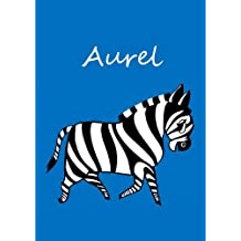 Aurel: individualisiertes Malbuch / Notizbuch / Tagebuch - Zebra - A4 - blanko