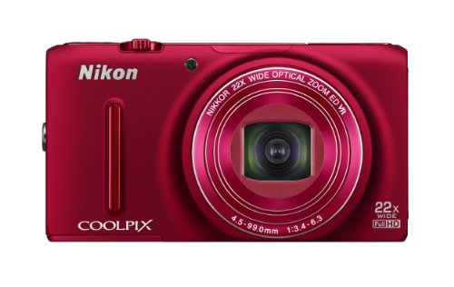 Nikon Coolpix S9500 Advance Point and shoot Camera (Red)