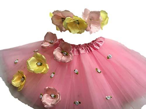 Rosebud Fairy Kostüm - Fairy Wish Early Years Set mit Tutu und Haarreifen, Rosenknospen, für Hochzeiten, Partys, Festivals, Verkleidungen, 3-6 Jahre