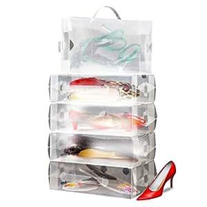 10 X Boites De Rangement Pour Chaussures Femme Empilables