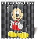 YOUZHENG SuperhaliluyaShower Curtain Bathroom Custom DIY Disney Cartoon Minnie Mickey Mouse Waterproof Shower Curtain Standtar Size 66X72