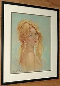 Mur nu art Dame, 20''x16 '' portrait encadré Dame, C Parisi, Colette impression
