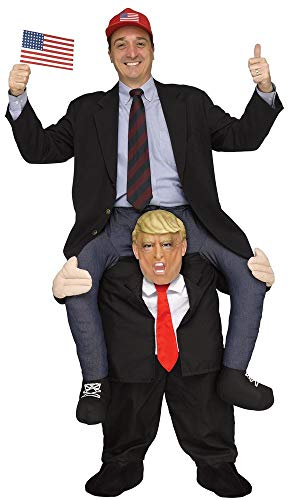 Lustiges Step-In Huckepack Kostüm JGA Junggesellenabschied:Trump (Esel Reiten Kostüm)