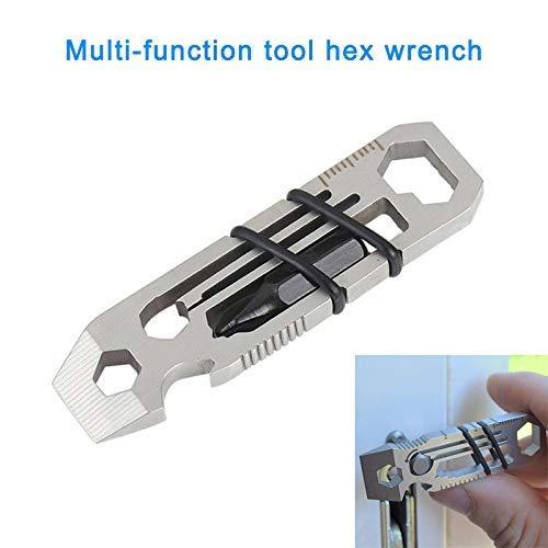 KongLyle Tiny Ratsche Multi-Tool Schlüsselanhänger Flaschenöffner Schraubendreher EDC Sechskant Schraubenschlüssel Taschen Werkzeug - 1 pcs (Taschen Tool,)