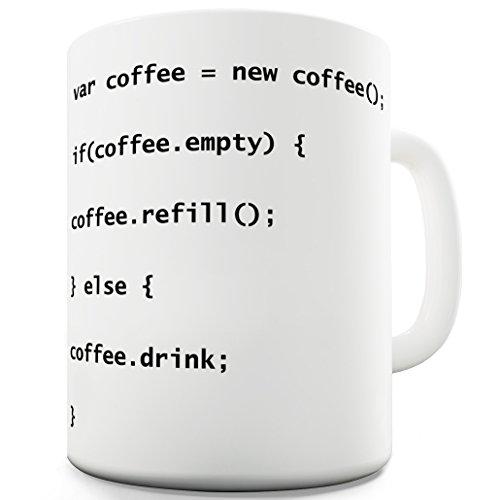 TWISTED ENVY originelle Kaffeetasse/Geschenktasse für Programmierer, aus Keramik, mitCoffee Codes
