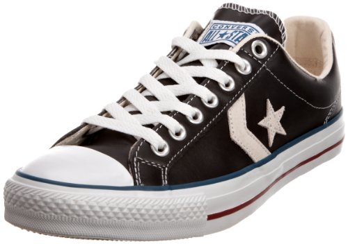 Converse Star Player Cuir Ev, Baskets mode mixte adulte Noir bleu rouge