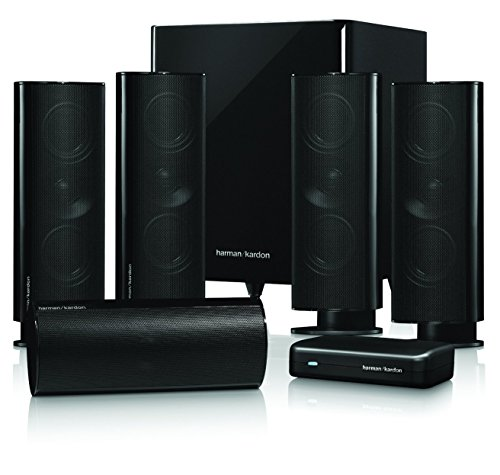 Harman/Kardon HKTS 65, Sistema Altoparlante Surround Home Theatre Cinema 5.1 Canali con Subwoofer Wireless, Nero