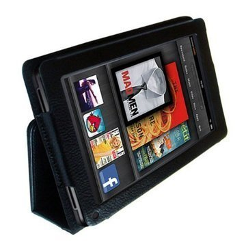 Executive Multi Function Leather Case Cover For Amazon Kindle FIRE (not for HD version) and Flip Stand Wallet With FREE Capacitive Stylus Pen and Screen Protector