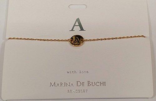Une Initiale Marina De Buchi Bracelet plaqué or par Sterling Effectz