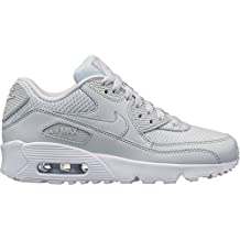 huge discount 4331b 6bf53 Nike Air MAX 90 Mesh (GS) Zapatillas Niños Plateado