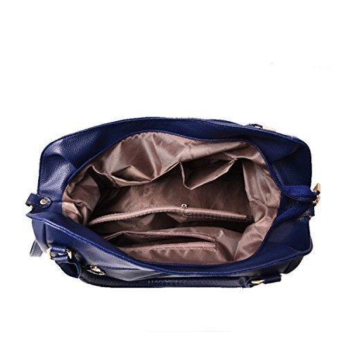Dame Klassische Beiläufige Art Und Weise Weiche Beutelfrau Kurierbeutel-Schulterbeutel Blue