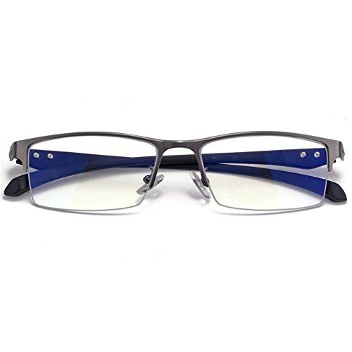 P-WEIAN Brille Anti-Blu-ray Brille Halbbild Anti-Computer Strahlung Flugzeug Spiegel Unisex, Gun Farbe Mond