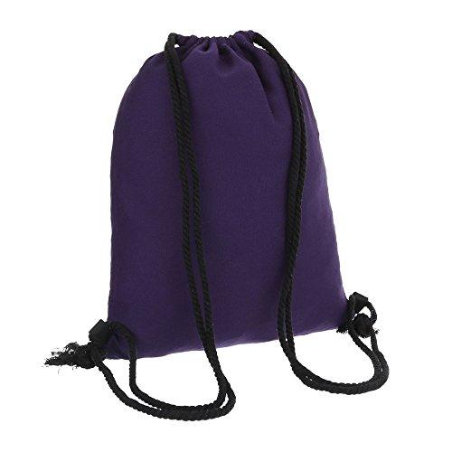 iTal-dEsiGn Damentasche Mittelgroße Rucksack Schultertasche Textil TA-J1111 Lila