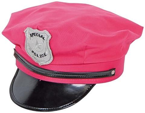 Déguisement Casquette de police Rose