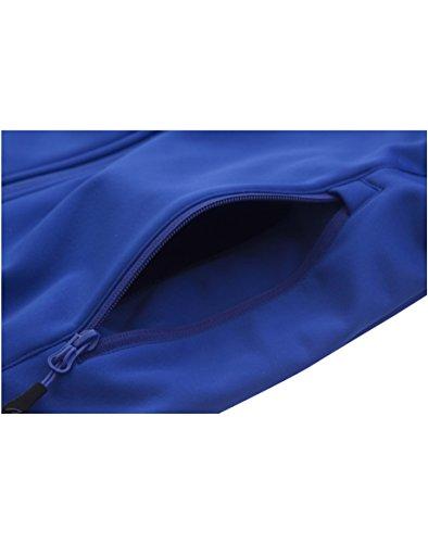 aparso Damen Softshell Funktion Übergangsjacke mit Kapuze und Fleece-Innenfutter (L, Blau) - 6