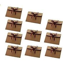 Westeng 10 pcs Kraft Sobres Arco Sellado Retro de Sobres Regalos para Invitaciones, Tarjetas de Felicitación y Uso Diario 18cm x 15cm x 1cm