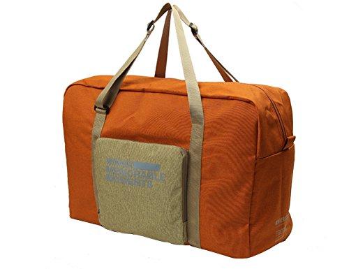 iSuperb Faltbar Reisetaschen Travel Duffel Bag Roomy Tasche Handtasche 23L Large Capacity Tragbare leichte Gepäck Tasche für Reise Einkaufen (grau) Orange