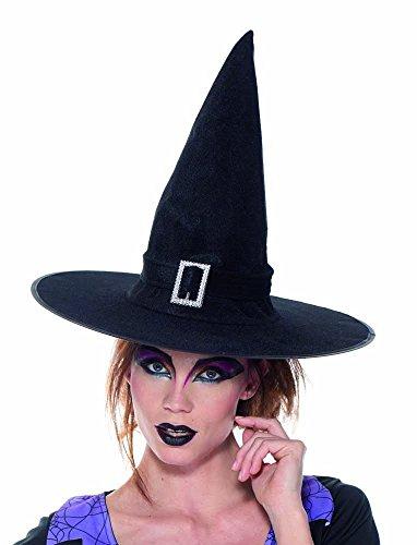 Rubies 's it10275-Sombrero bruja en terciopelo negro, talla única