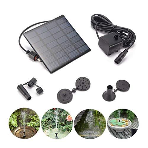ASUN Kleine Solar-Brunnenpumpe, 1.2W 180L / H Outdoor Solar Power Wasserpumpen-Panel-Kit, solarbetriebene Wasserpumpe für Vogelbäder, Tauchbrunnen-Pool oder Gartenteich-Terrasse