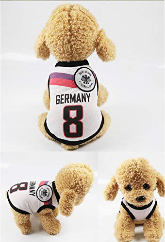 Fußball Basketball Kleidung Tierkleidung Weste Frühling Und Sommer Hunde-Kleidung Team Ball-Anzug Xs Deutschland Team (Hunde Fußball Ball Kostüm)