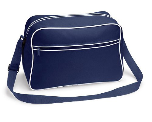 Bagbase Retro Schultertasche FRENCH NAVY WHITE