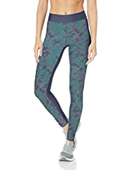 Under Armour Women's UA HG Printed Legging, Utility Blue/Metallic Silver, Small