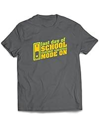 lepni.me Camisetas Hombre Último día de Clases, Modo de Vacaciones ...