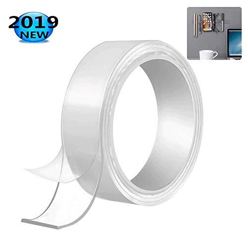 XYZY Nano Tape Entfernbares Doppelseitiges Behoben Klebeband Wiederverwendbares Waschbares Transparent Klebeband ,Für Wände Küche Teppichbefestigung Fotopaste BüroAuto(1m/3m/5m