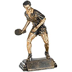 DEPICE trofeo de tenis de mesa, negro/oro, TRO-FS-52523