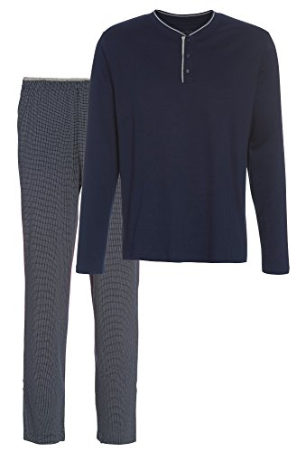 Smith Dunkelblauer Herren-Pyjama mercerisiert dunkelblau,XXL