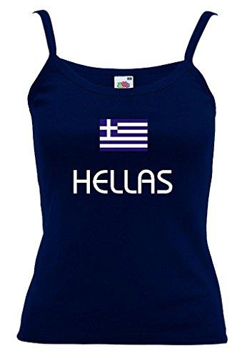 Fruit of the Loom Hellas/Griechenland Damen T-Shirt Spaghettiträger WM 2014|m-s