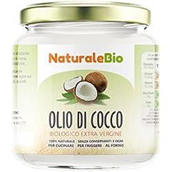 Huile de Coco Extra Vierge 200 ml - Crue et Pressée à Froid - Pure et 100% Bio - Idéale Pour Les Cheveux, Le Corps et Comme Aliment - Huile Bio Native Non Raffinée (NaturaleBio)