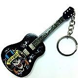 Llaveros de madera con forma de guitarra - Guns N' Roses - Tribute