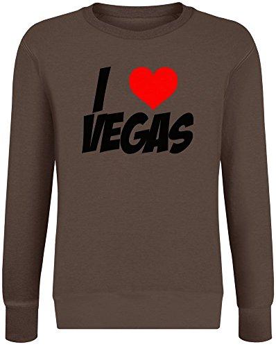Ich Liebe Vegas - I Love Vegas Sweatshirt Jumper Pullover for Men & Women Soft Cotton & Polyester Blend Unisex Clothing Medium