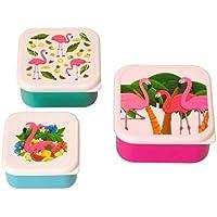Flamingo Brotdosen im 3er Set - Tropische Flamingo Vesperdose Vesperbox Tropisch Brotzeitdose preisvergleich bei kinderzimmerdekopreise.eu