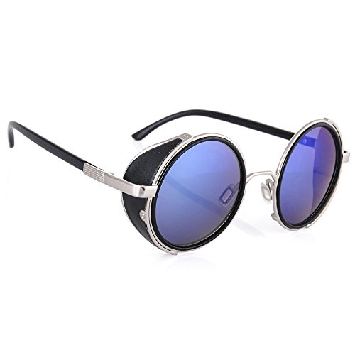 morefaz Herren Sonnenbrille silber Aviator Silver Polarized Regulär Gr. Regulär, Blue/Silver Mirror lens