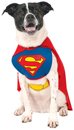 Kostüm Pet Superman - Rubie's edles Haustier Hund Superman Kostüm - Blau/Rot, Small