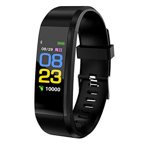 arthur sport fitness tracker band attività intelligente wristband impermeabile frequenza cardiaca monitor sonno, nero