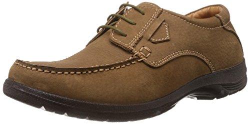 Bata Men's Luca Beige Leather Formal Shoes - 8 UK (8238580)