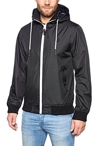 SOLID Herren Windbreaker TEYS Übergangsjacke Jacke Fleece-Futter Kapuzen-Jacke Zip Zipper Reißverschluss black (9000)