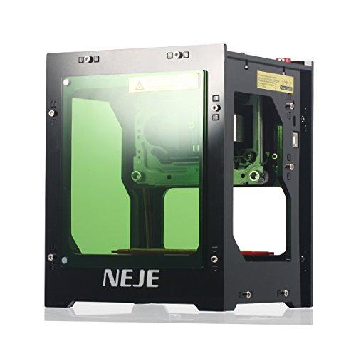 NEJE Lasergravierer Drucker, 1500mW 550 * 550 Pixel USB Mini Graviermaschine, 405nm Wellenlänge, Gravur Raum 42 * 42 * 78mm, 6000mAh Li-Ion Akku, Bluetooth 4.0 innerhalb von 10 Metern