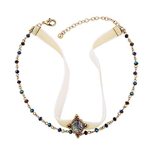 mehrschichtige samtgürtel Damen kurzen umhängeband Choker Mode ins Halskette europäischen und amerikanischen schmuck Mode-Accessoires Damenketten ()