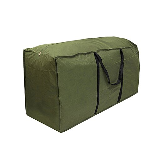 Là Vestmon Möbel Kissen Aufbewahrungstasche, Durable 210D Denier Wasserdichte Gartenmöbel Abdeckung, Patio Bank Kissen Taschen mit Griffen, Army Green (173 * 76 * 51cm)