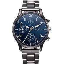POJIETT Relojes de Marca Hombre Mujer Lujo Acero Inoxidable Relojes Pulsera de Cuarzo Analogico Reloj Deportivo