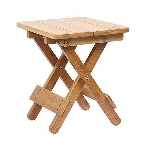 ZDD Tabouret Pliant, Bambou, Ménage Portable Mazawa en Bois Massif, Chaise de pêche en Plein air, Petit Banc, Tabouret, Tabouret carré