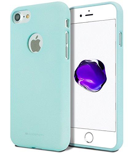 GOOSPERY iPhone 7 /iPhone 8 Hülle, [Thin Slim] [Flexible] Soft Feeling Jelly [Matte Finish] Silky TPU Rubber Liquid Gel Silikonhülle [Leicht] Bumper Cover für Apple iPhone 7 /iPhone 8, Pink Sand - Sand Finish