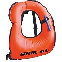 Seac 1520017 Chaleco Snorkeling, Unisex Adulto, Naranja, L/XL